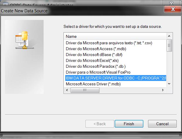 ODBC Select ODBC Driver