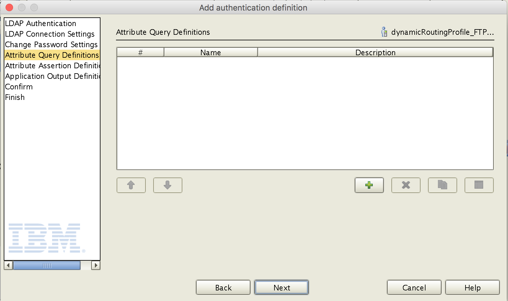 Authentication Definition - Attribute Query Definition