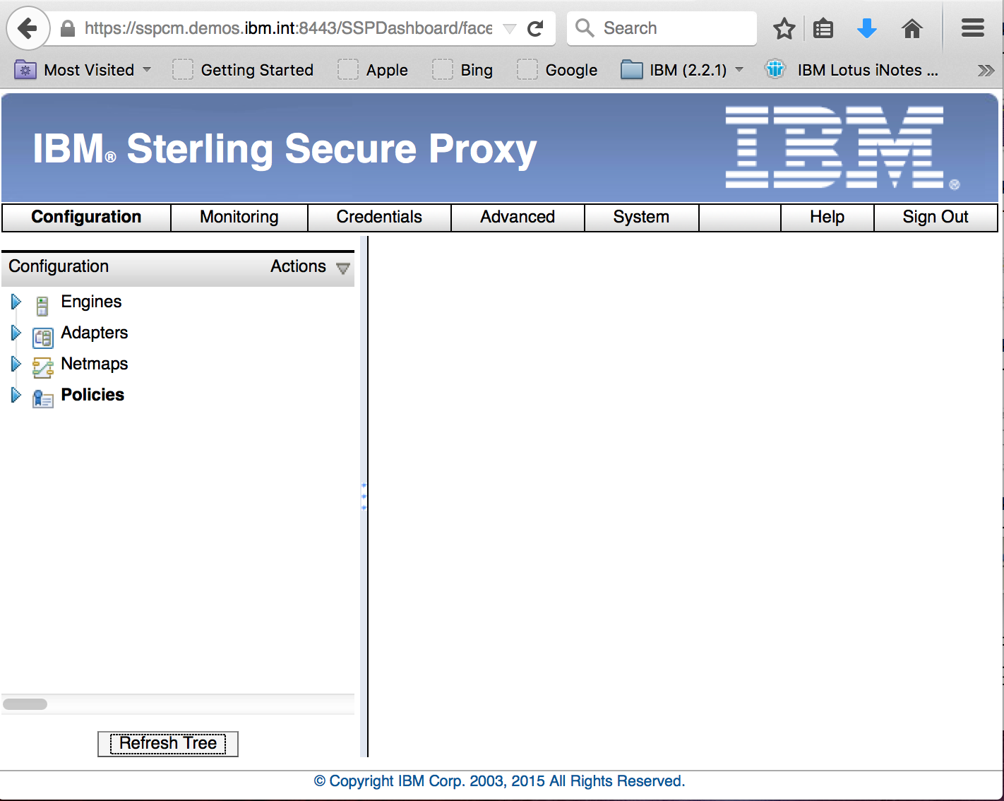 Sterling Secure Proxy Configuration Manager UI
