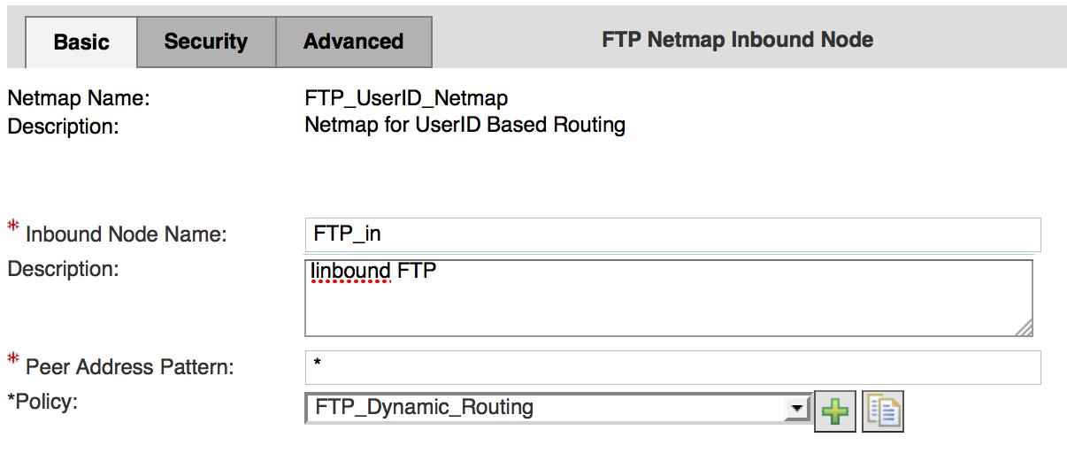 FTP Netmap - Inbound Node