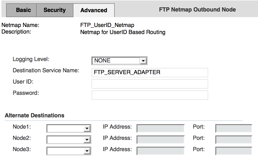 FTP Netmap - Outbound Nodes - SB2BI - Advanced