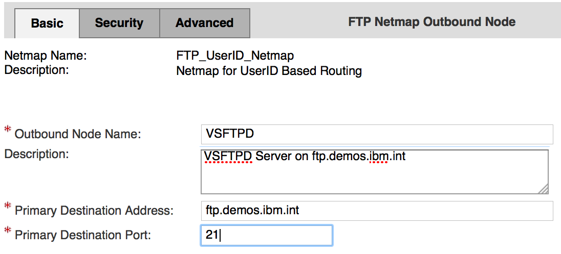 FTP Netmap - Outbound Nodes - VSFTPD - Basic