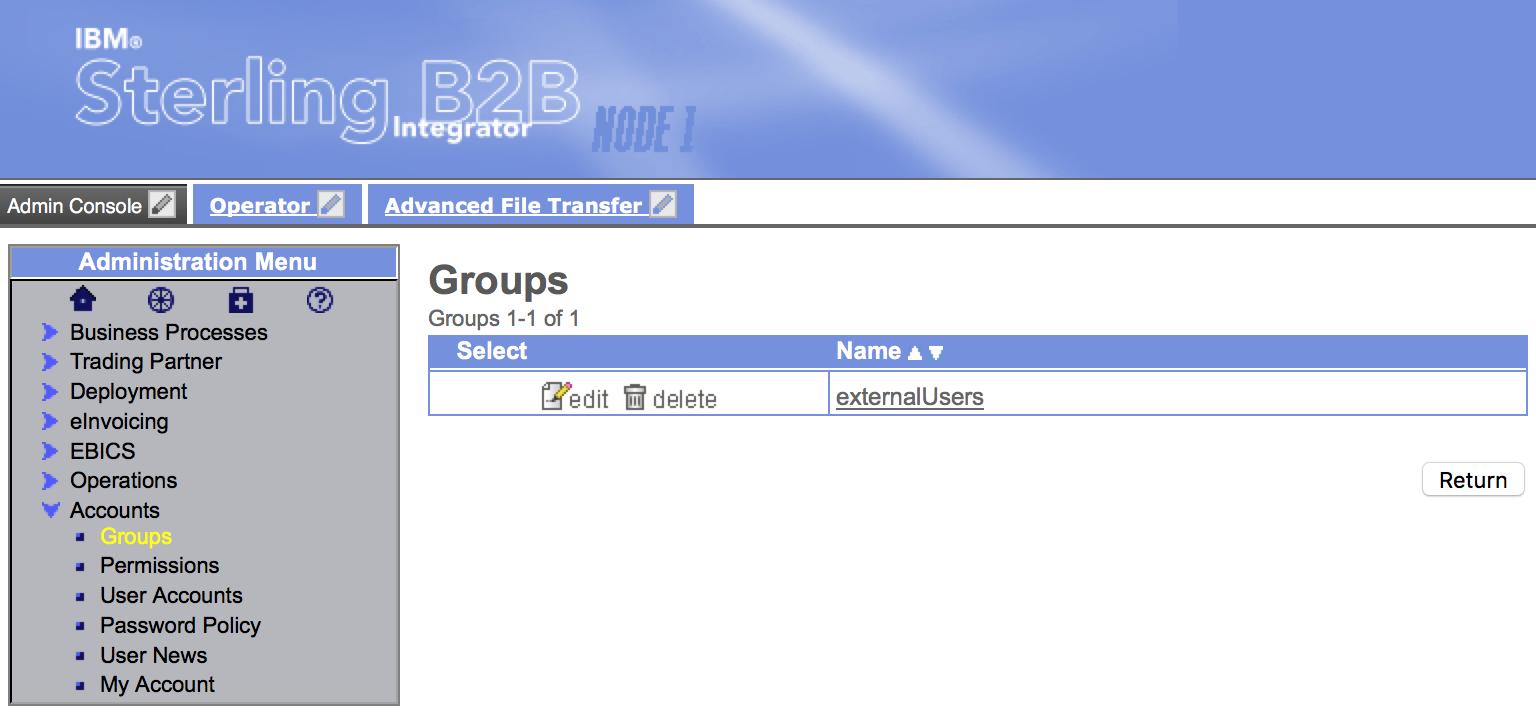 Accounts - Groups