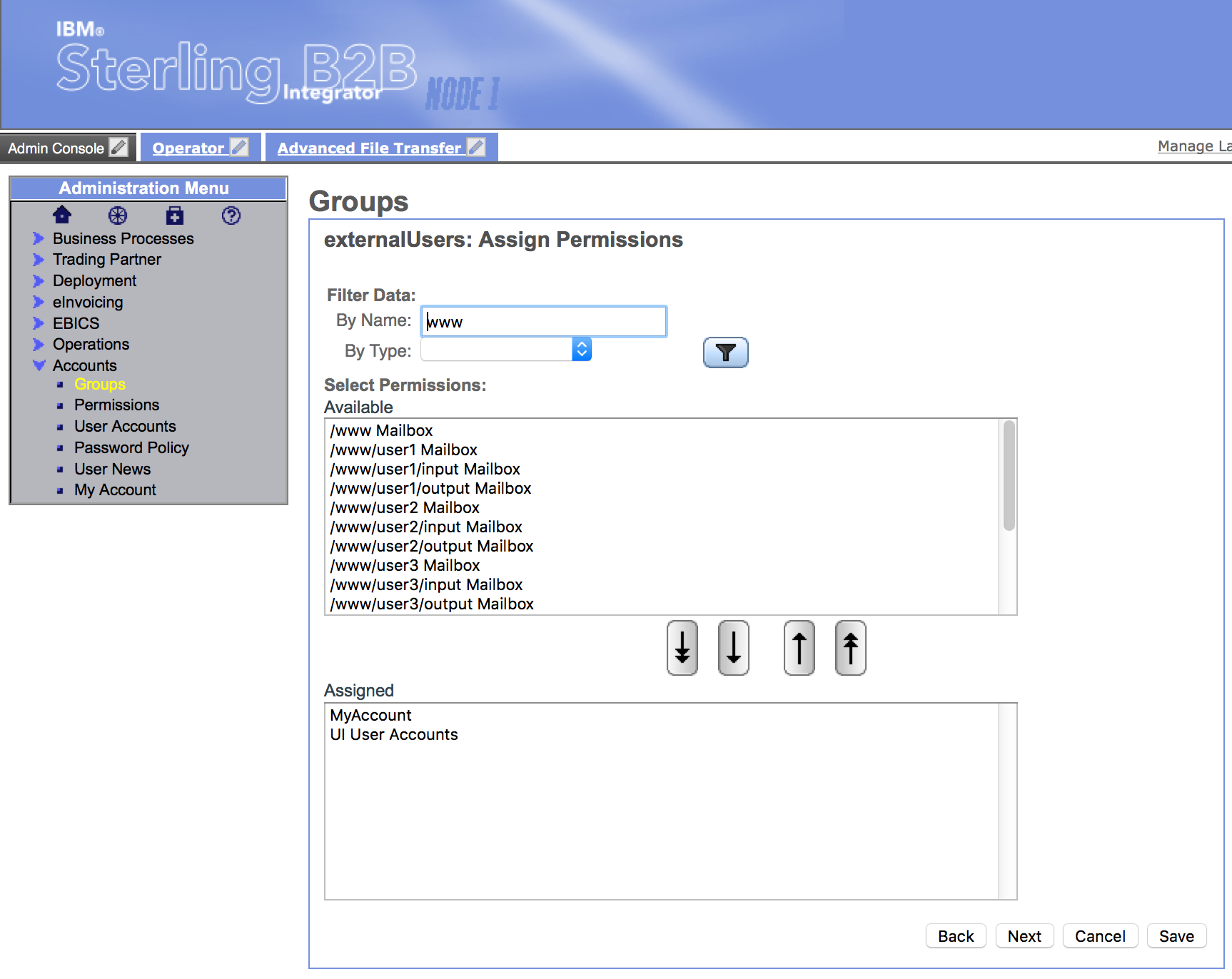 Groups - Assign Permissions