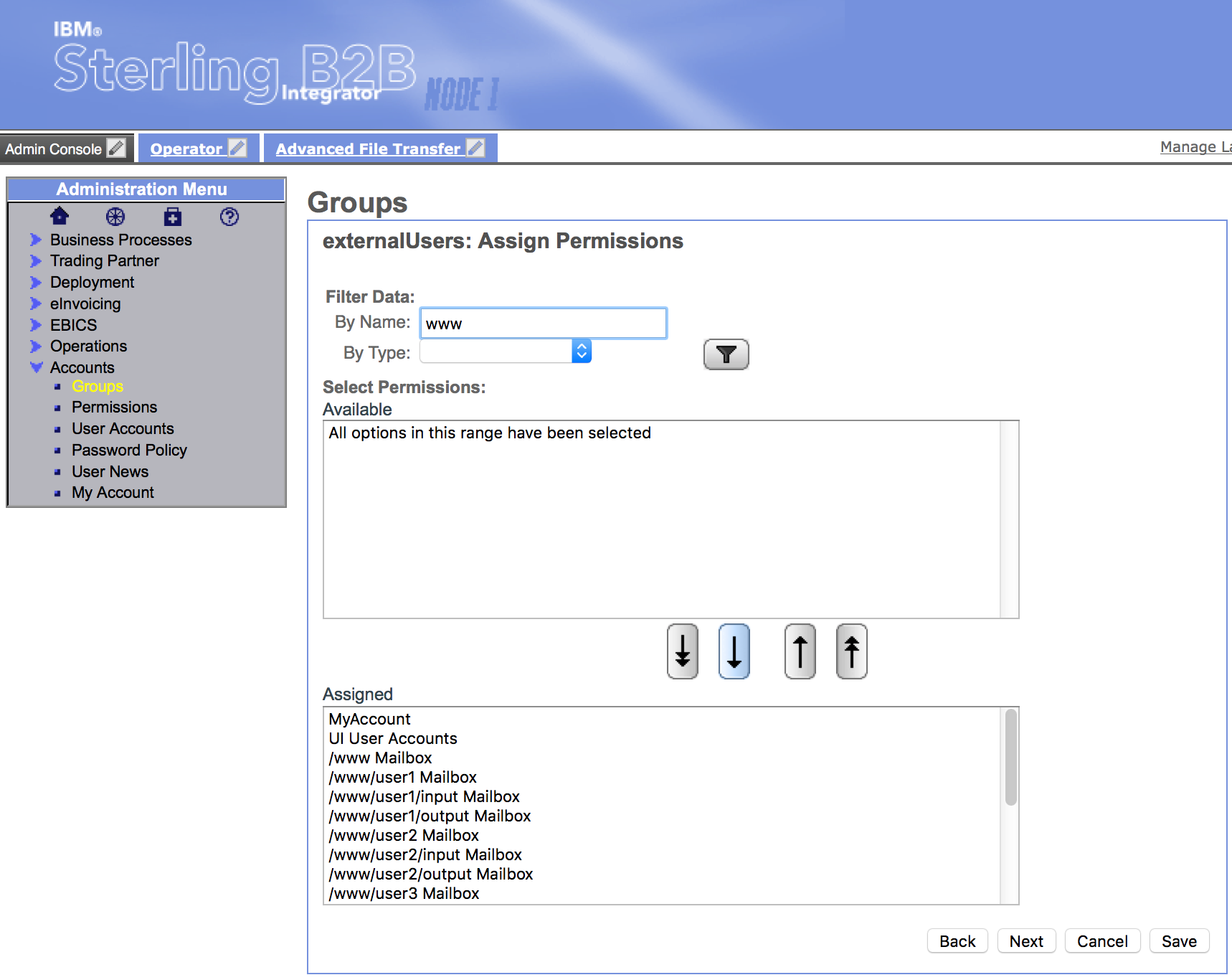 Groups - Assign Permissions - Assigned