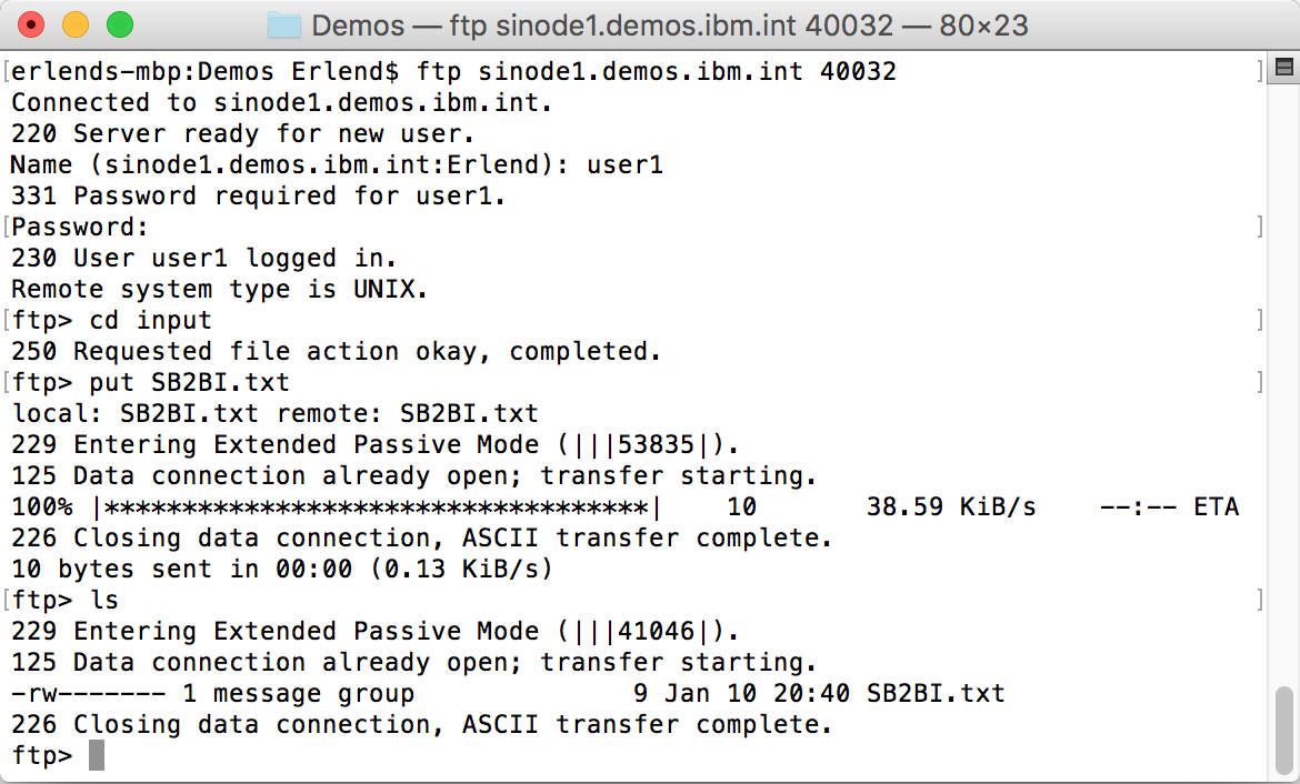 Upload file directly to sinode1.demos.ibm.int